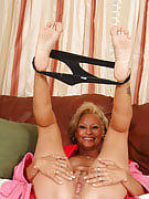 Horny grandma from 30 plus Ladies strips following the housework is definitely ready