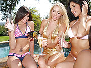 These 3 killer milfs are fuckin right out of those hot bikinis in these video clips