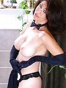 Sensuous adult Madison slips away robe and wows you together with her body