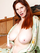 Horny redheaded snap after 30 plus Ladies will get intimate with her dildo