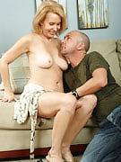Hot golden-haired MILF enjoying the younger tool as part of her again crotch