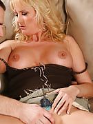 Blonde mature babe favors the feel of more youthful tool