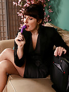 Brunette MILF Ava from 30 plus Ladies slips the lady purple toy deep inside of her
