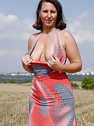 Natural titted Demi after 30 plus Ladies plays nudist out as part of the farmers area