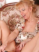 Hairy pussied MILF gets it through along with her plastic buddy