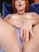 At just 52 many years older beautiful redheaded Calliste seems very good inside her lingerie