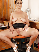 Office gal Ria black color takes a break from the lady duties in order to spread her crotch