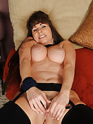 Sensuous 47 spring old Alexandra Silk tugging at just this girl hot pussy hairy as part of here