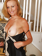 Kate after 30 plus Ladies strips off her lacey lingerie as part of these photos