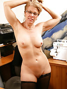 Horny mature office chick can possiblyt hold off to tv show you whats in her panties