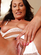Brunette MILF Sandy K gets woken increase and puts on the show for your