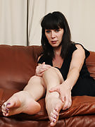 Horny 40 spring old RayVeness showing away the lady deliciously wash feet