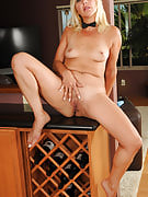 adult and sexy babe Andi posing as part of and also out of spicy blue lingerie