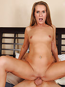 43 yr old petite MILF Sara J gets this girl mature crotch outfitted with cock
