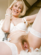 Golden-haired Hazel struts this girl 52 yr old things as part of these angel pictures