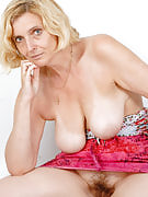 51 year old MILF Hillary shows away this girl lifelike boobs and furry vagina