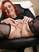 Redheaded workplace girl looks great nude at 53 a very long time familiar